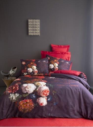 İssimo Home 3D Çift Kisilik Nevresim Takımı %100 Pamuk Rose Renkli